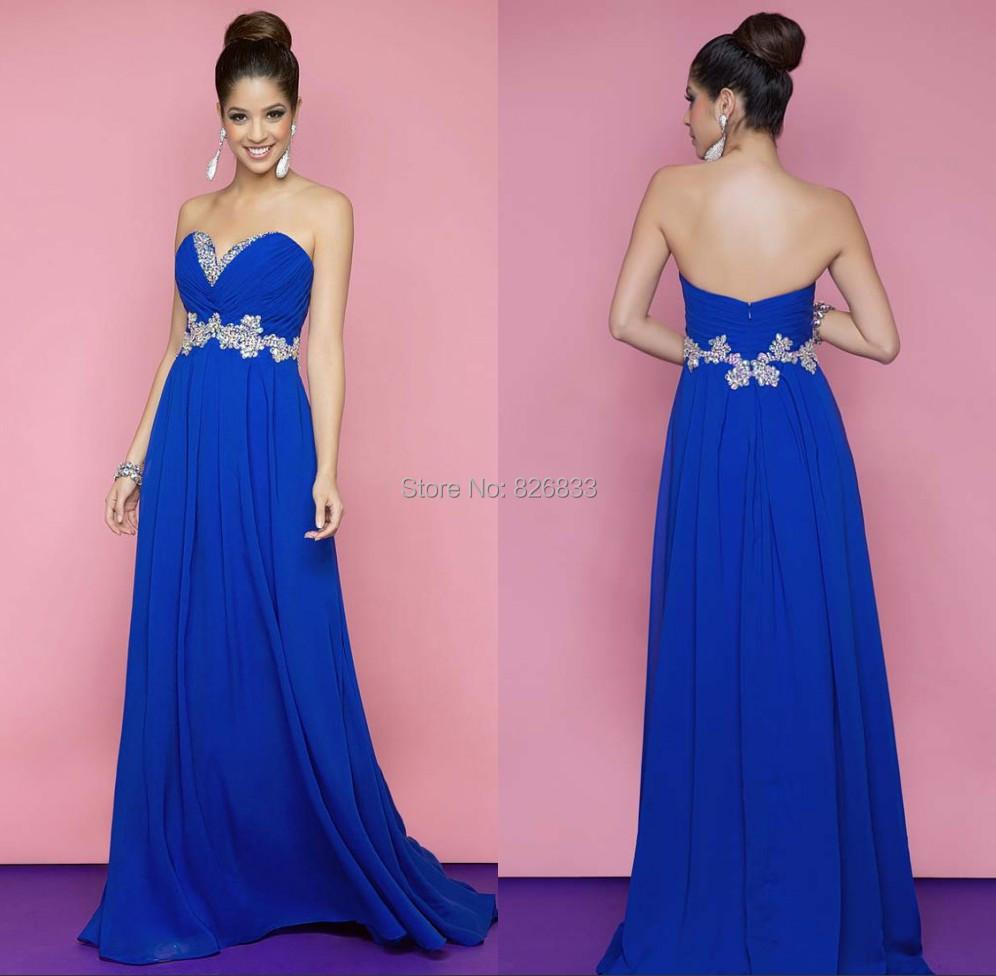 226ca99a915 Robe soiree longue bleu roi – Robes de soirée élégantes populaires ...