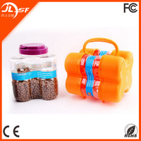Portable Traveling 3-in-1 Dog Food Storage Bin Whoelsale,Plastic Pet Food Storage Container