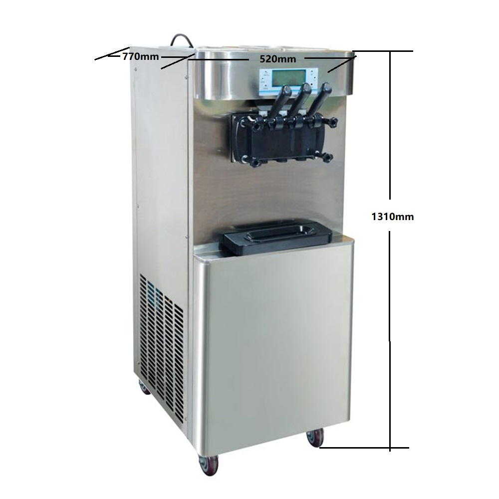 commercial frozen yogurt machine , soft ice cream machine with 3 flavor