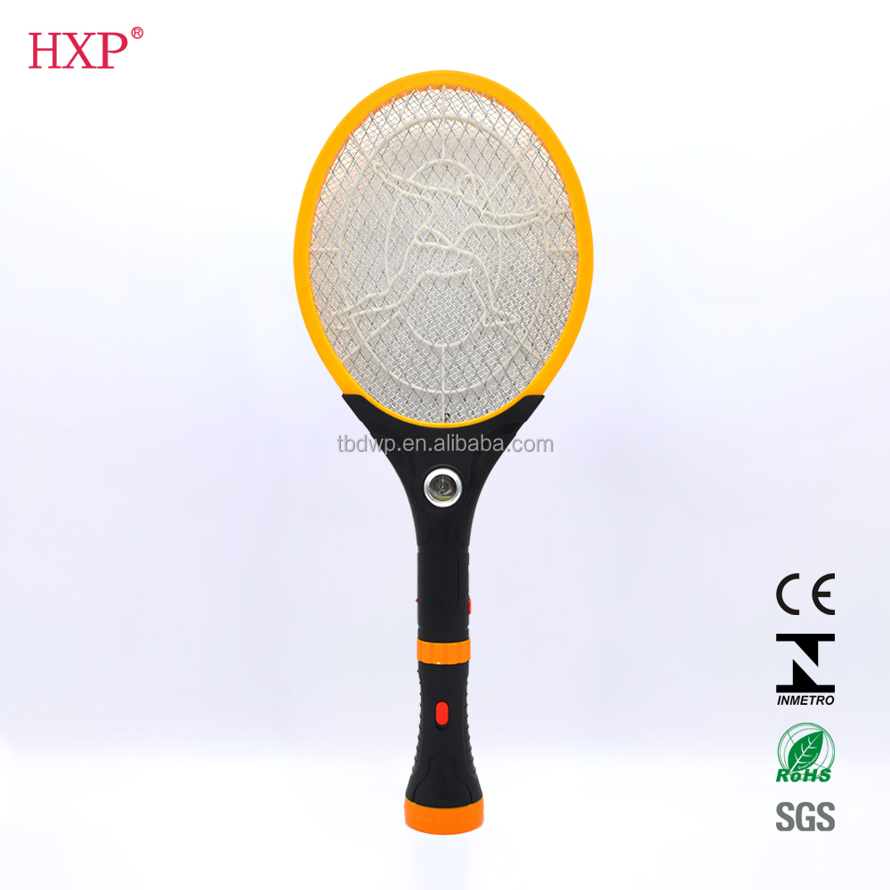 2017 zhejiang 7 LED light electric fly swatter,fly swatter with torch