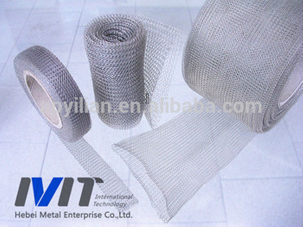 MT knitted wire mesh / wire mesh demister for oil filter machine