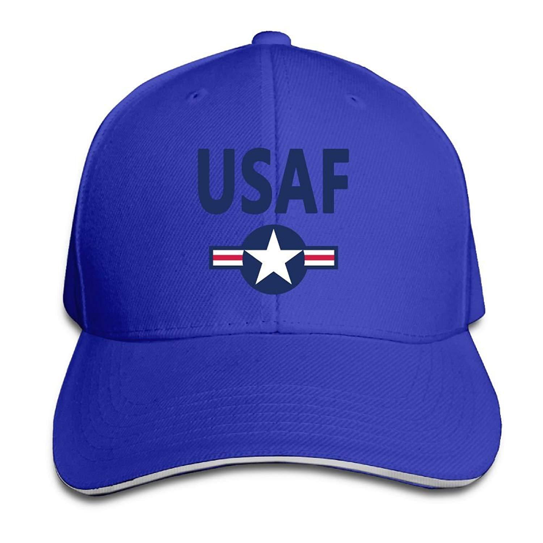 c0f65b7a125 Get Quotations · ZETAPS USAF Air Force Star Unisex Twill Baseball Cap  Sandwich Cap