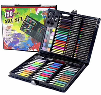150Piece Art Set-Art Supplies for Drawing, Painting and More in a Portable Case-Great Gift for Beginner and Serious Artists