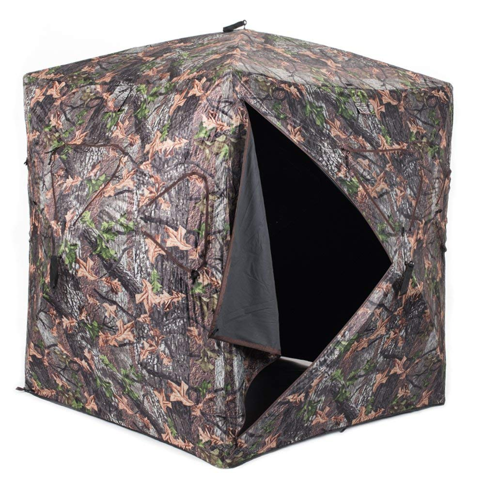 Buy 2 Man Pop Up Ground Hunting Blind Camo Tent In Cheap