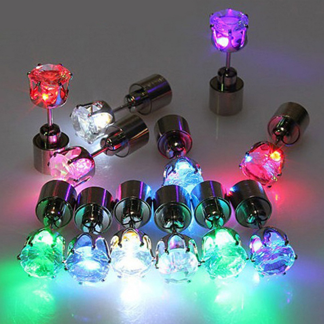 Party Supplies Light Up Earrings, Led Light Earrings, Led Earrings