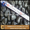 Hot sale natural tumbled polished black pebble stone for landscaping and garden decoration