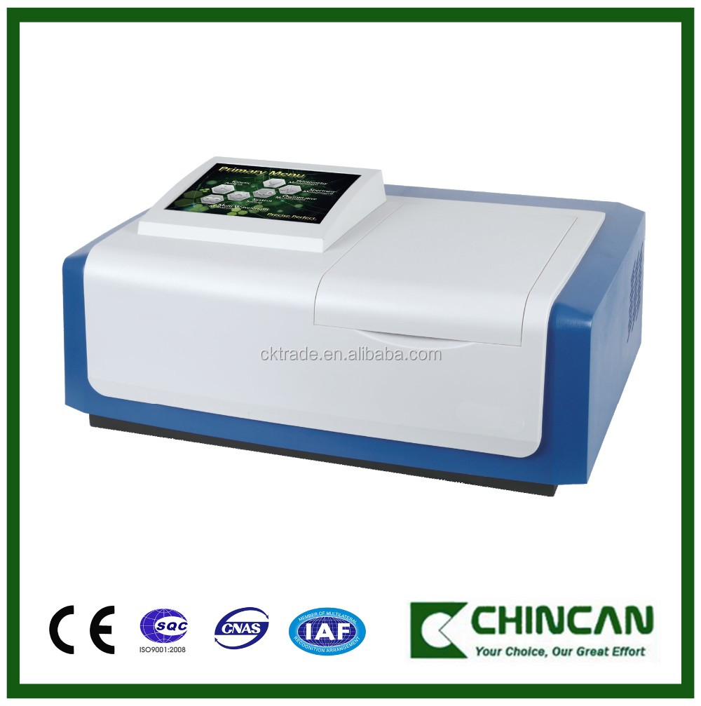 UV Vis spectrophotometer price with double beam for Spectrum Bandwidth2nm