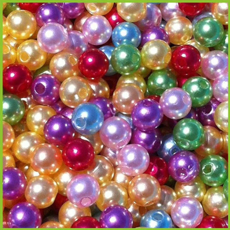 Wholesale Color Round Imitation Pearl ABS Plastic Pearl Beads