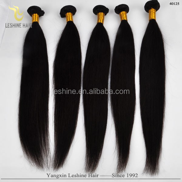 Own Factory Stock Hair Essential Oil Dyeable Full Ends 3 bundle straight brazillian hair in 1