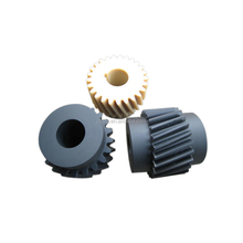 Mass production pom plastic pinion helical peek gears
