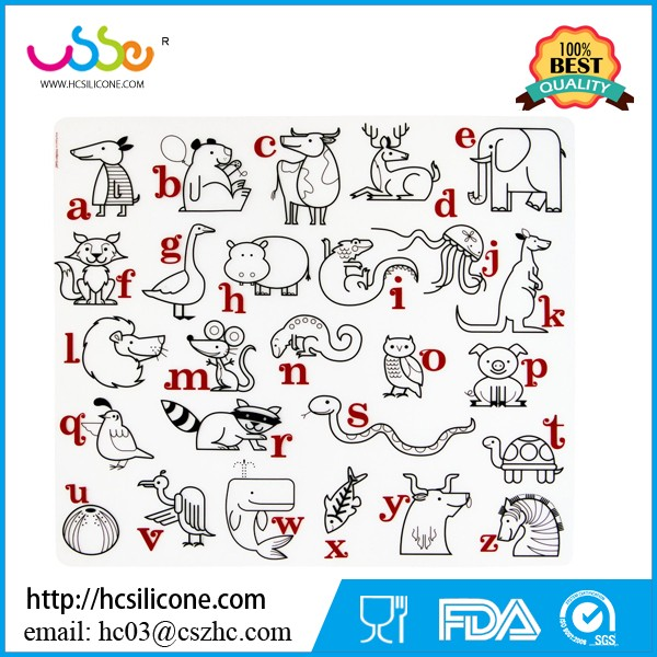 Silicone Coloring Placemat For Kids Eating,Playing,Drawing - Buy ...