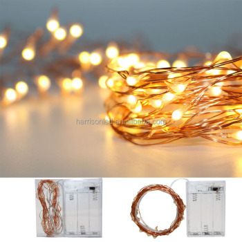 5m 50l 3aa warm white brown wire copper wired battery operated invisible micro fairy star christmas