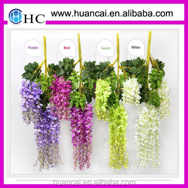 Decorative artificial wisteria flower hanging plant for wedding decoration
