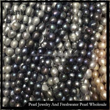 Collana di perle barocche 12mm large perla naturale grigio prezzo con buon  colore lustro possono praticare b5066327e86a