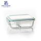microwave glass food bowl two side glassware food storage bowl with plastic cover