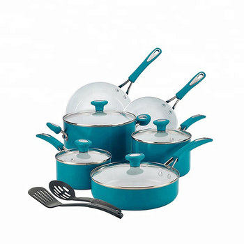 China cookware sets 12pcs ceramic kitchen cookware with kitchen utensils