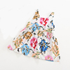 bowknot cute floral print dresses summer cotton seamless baby girl dresses for princess