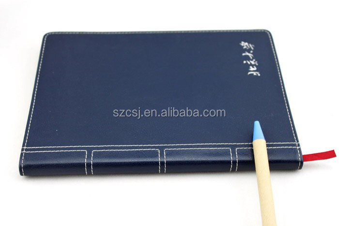 Wholesale university school notebook paper price with logo stamping