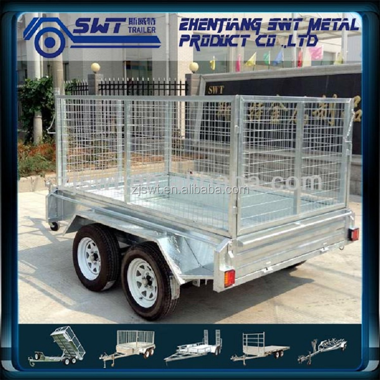 7x4 Galvanized fully welded box trailer