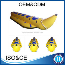 Best pvc inflatable water/sea banana boat with repair kit for sale