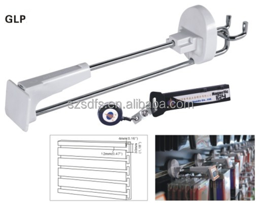 factory price anti theft locking security slatwall hook system,security display pegboard hooks for retail shop