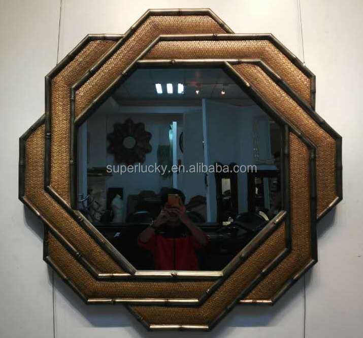 frame antique hinged wall mirror