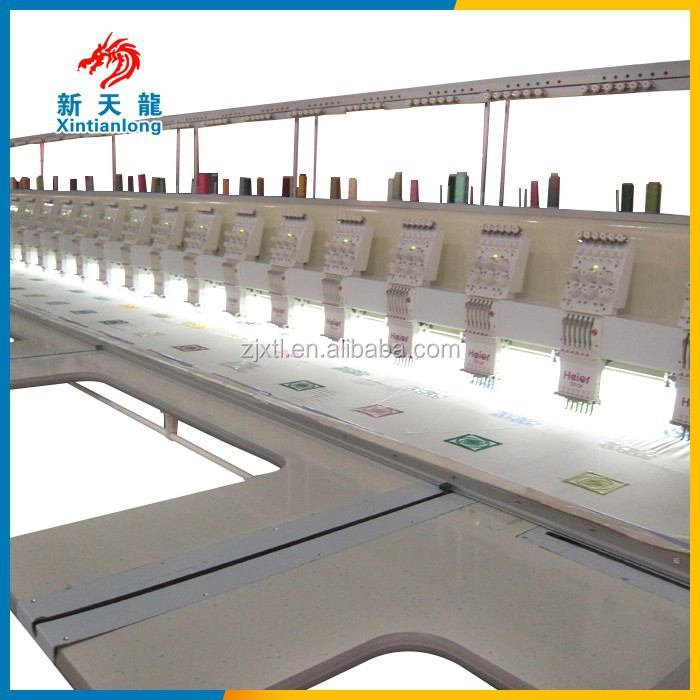 6 needles 24 heads high speed flat embroidery machine
