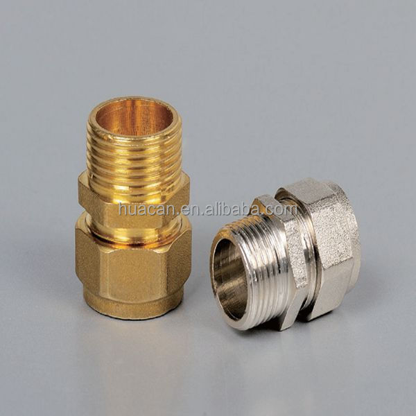 Brass copper compression male threaded connector fittings