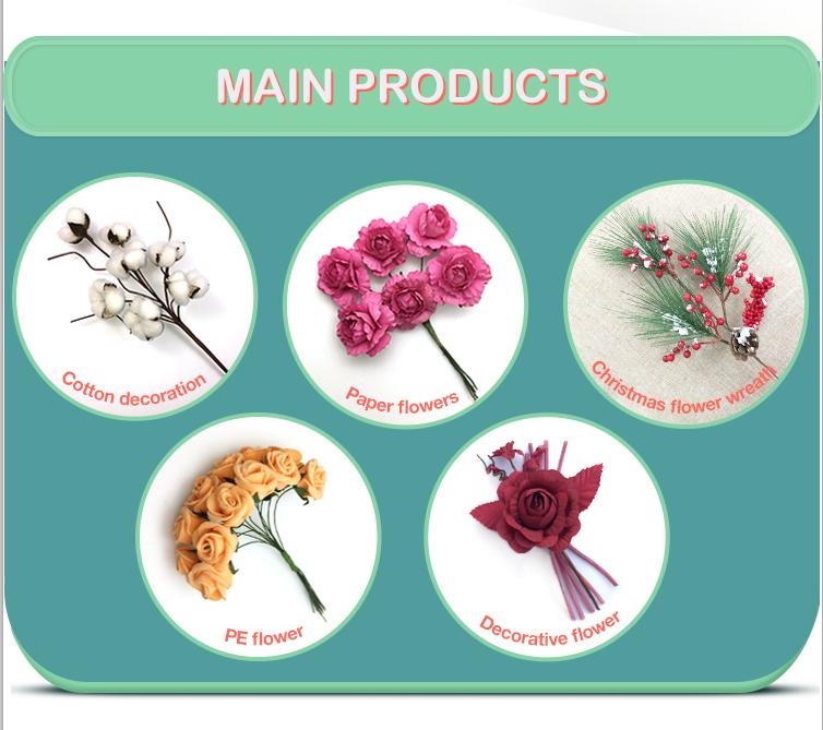 China produto de venda superior flor de algodão seco com hastes artificiais