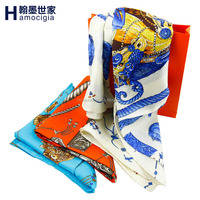 New Design 100% Silk Scarf for Lady with custom brand