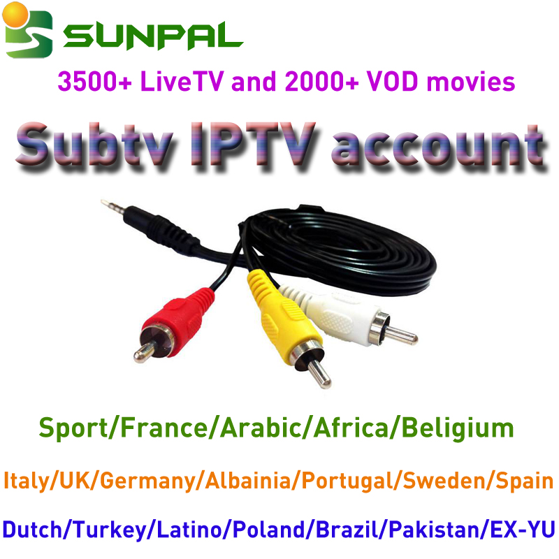 1 year subtv account iptv subscription hot for franch with reseller panel