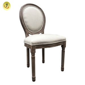 French Victoria Style Wooden Round Back Luis Ghost Chair