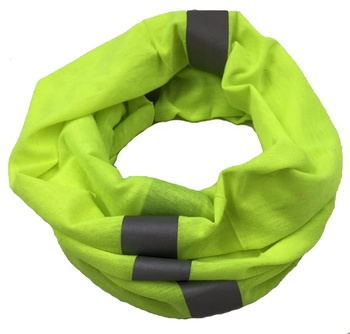 neon color with reflective tape custom tube seamless bandana panuelos fosforescentes