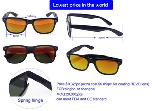 $0.32 cheapest sunglass with spring hinge, classic sunglasses with mixed colors