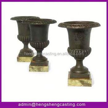 caliente barato antiguo macetas suministros ollas de hierro fundido metal al por mayor macetas y