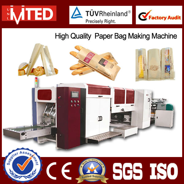 Full Automatic Bakery Bag Making Machine/Paper Bag Machine for Bakery Bag