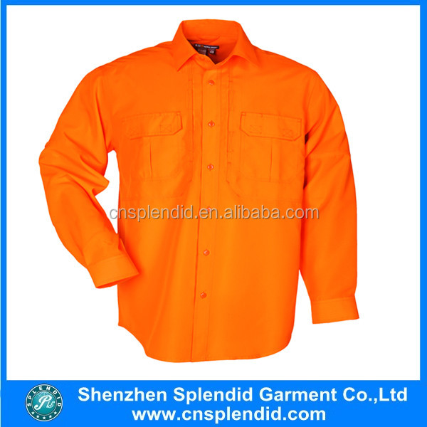 plain orange cotton construction safety wear