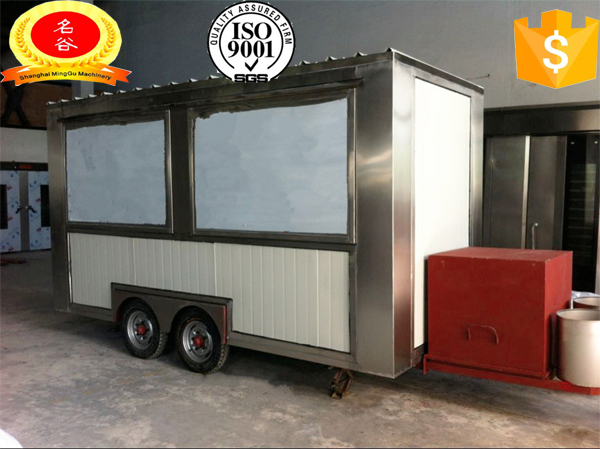 Newest Design Mobile Food Truck Luxury Trailer Cart Towed By Car