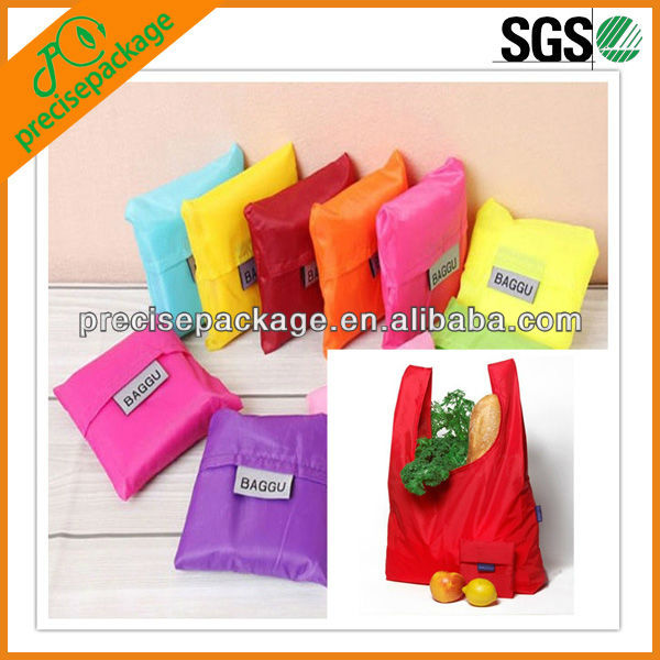 custom made square pocket Shopping bag many colors available Eco-friendly reusable folding handle Bag
