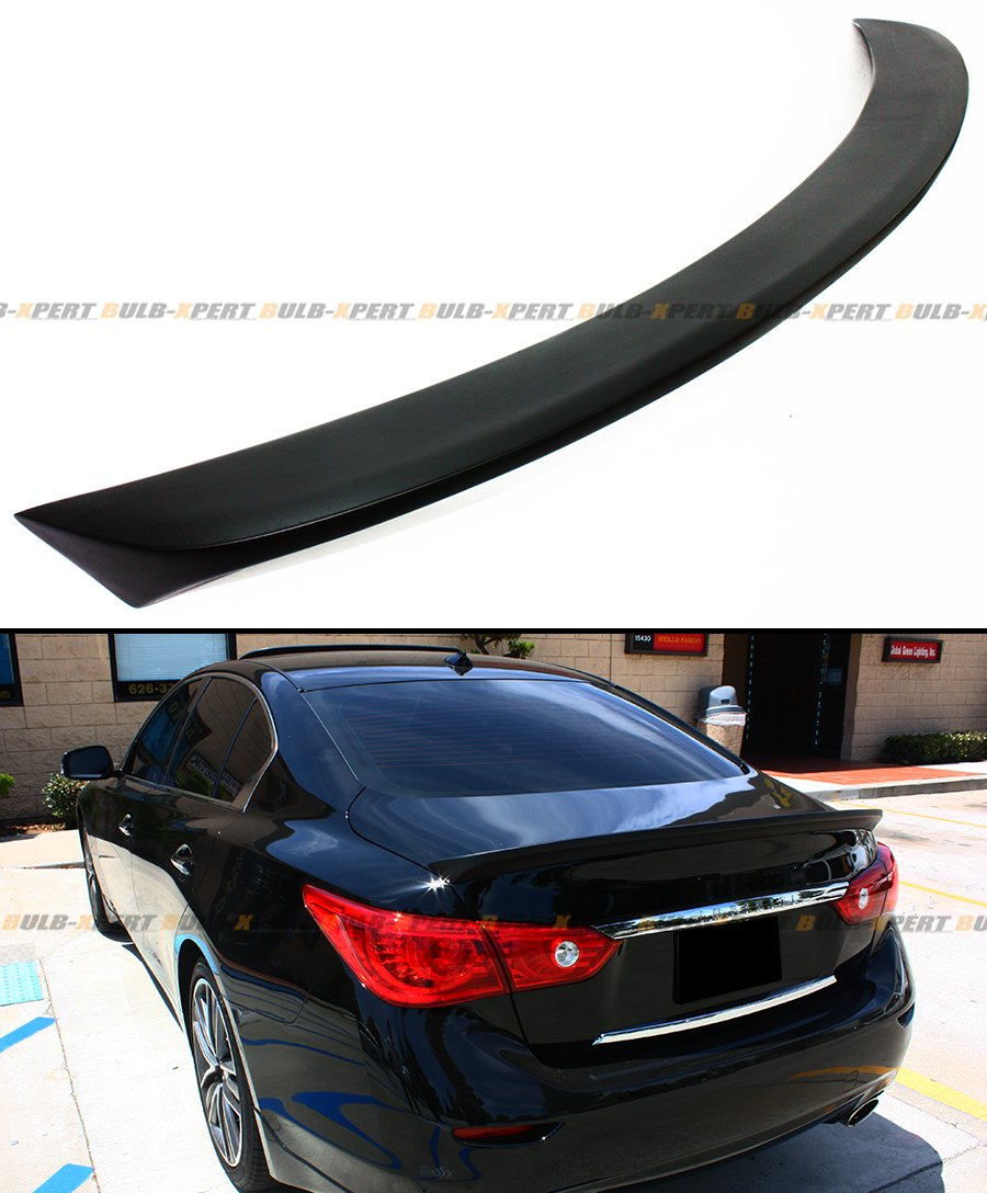 FOR 2014-2016 INFINITI Q50 Q50S HIGH KICK STYLE TRUNK LID SPOILER WING- PRIMER FINISH