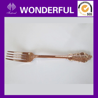 luxury gold coated plastic fork and spoon