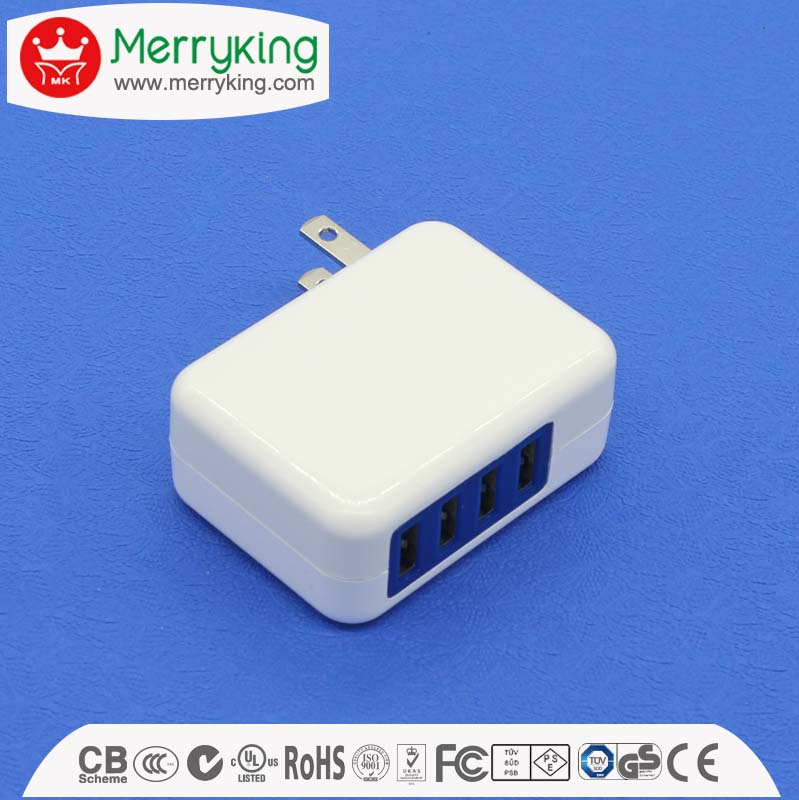 CE/UL/PSE/KC/SAA approved multi port usb charger 5v 1a 1.5a 2a 2.1a 2.5a 3a usb ac adapter