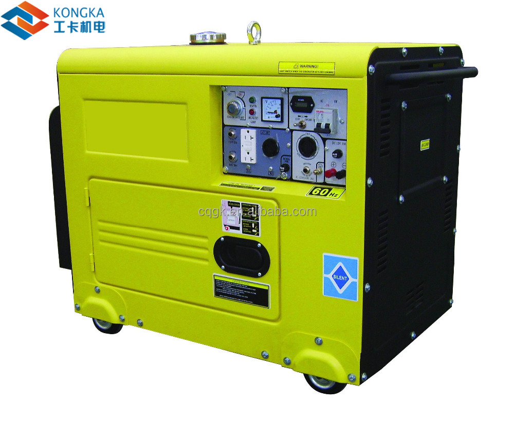 single phase output type air cooled diesel generator set by small dynamo motor 5kw