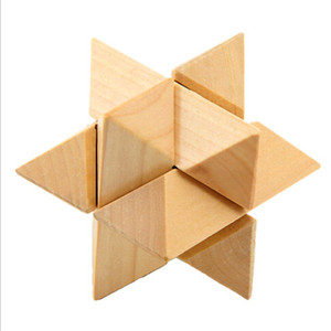 Super wooden brain teasers cube game puzzle