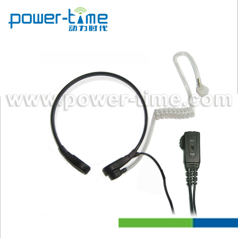 For ICOM walkie talkie throat mic headset with comfortable wearing headphone (PTE-780)