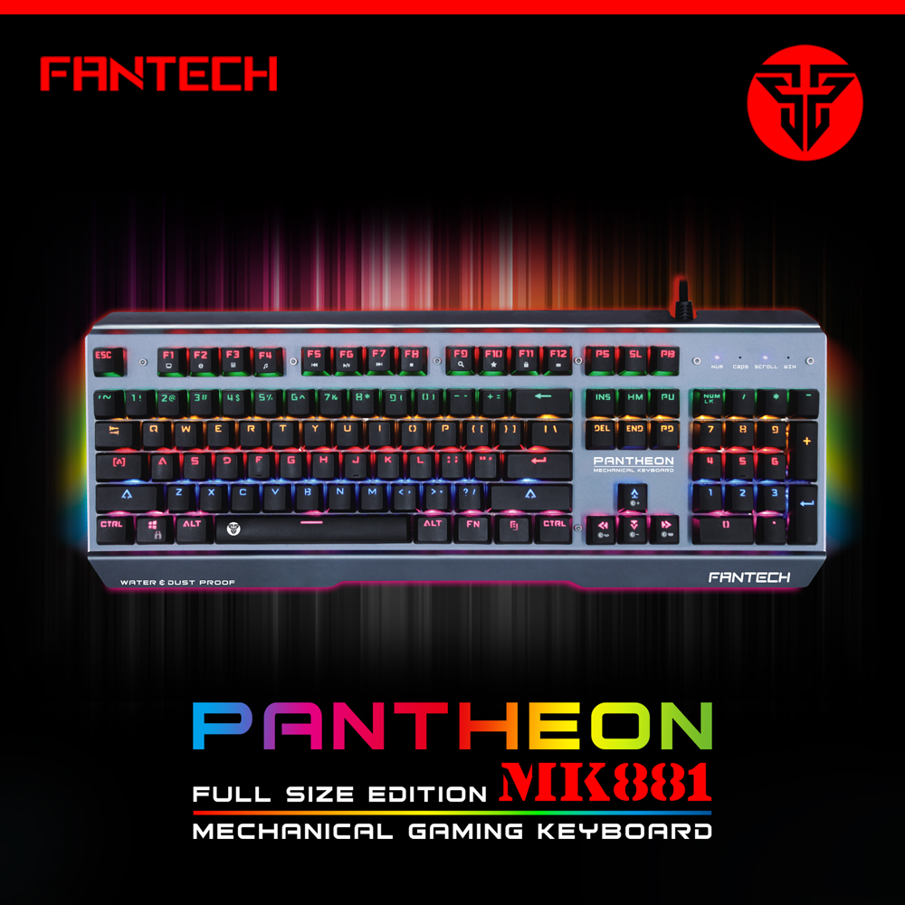 Waterproof Gaming Wired Mechanical Keyboard LED Backlit for Gamer Computer