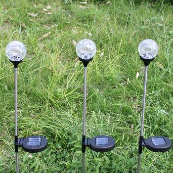 3 Pack Lichten Zonne Glazen Bol Kleur Veranderen Led Light Outdoor ...