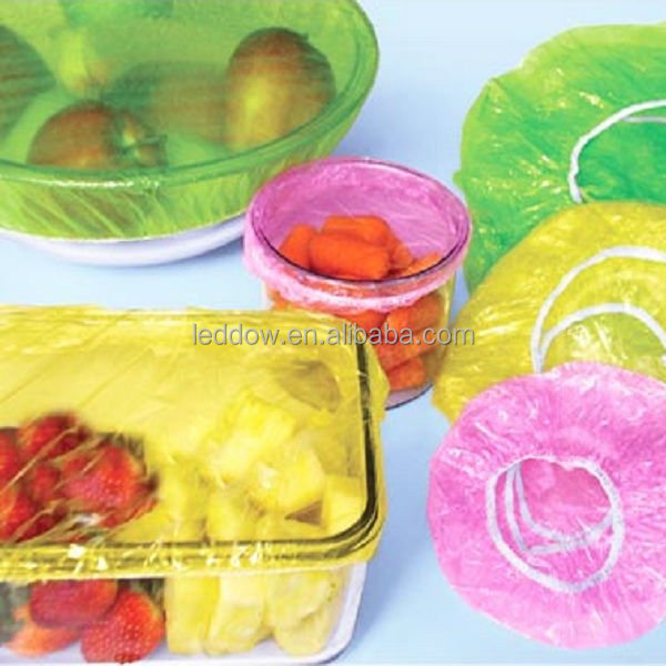 Disposable colorful PE bowl covers disposable plastic elastic dust covers