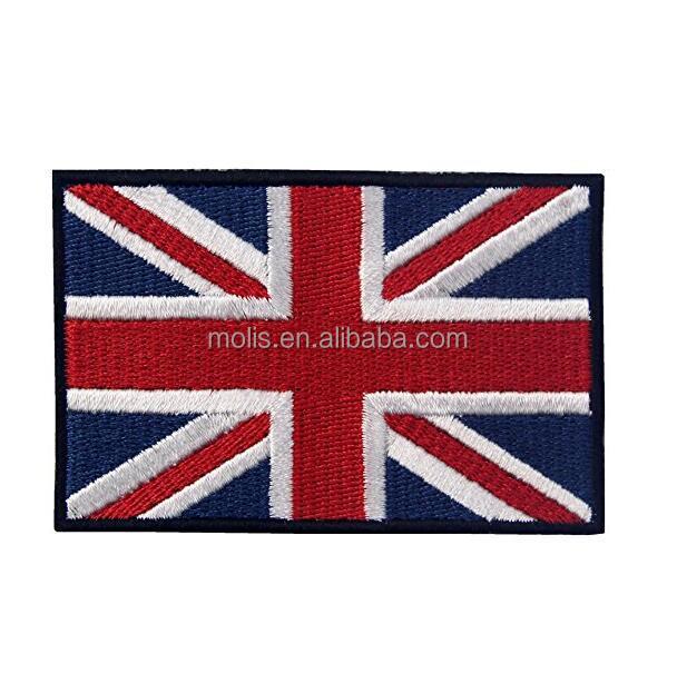 PERSONALISED UNION JACK GB  FLAG EMBLEM T POLO SHIRT EMBROIDERED