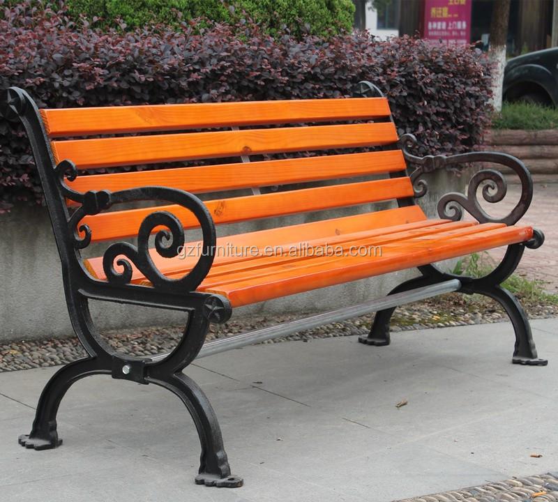 Madera Maciza Antiguo Parque De Hierro Fundido Muebles Para Bancos ...